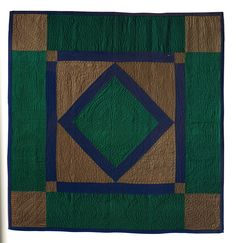 Diamond in a Square, 1900, wool challis, Shelburne Museum