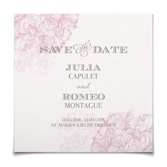 Save the Date Florence in Malve - Postkarte quadratisch #Hochzeit #Hochzeitskarten #SaveTheDate https://www.goldbek.de/hochzeit/hochzeitskarten/save-the-date/save-the-date-florence?color=malve&design=4361c