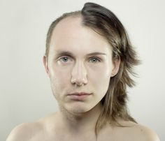 This is a contemporary self portrait by Jekaterina Nikitina through photography. Taken in 2010, this photo is a very out-of-the-box way of conveying an internal struggle of masculinity vs. femininity.