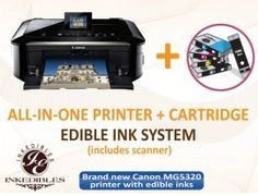 BRAND NEW printer bundle by Inkedibles - $209 for an all-in-one new Canon inkjet printer with Inkedibles edible inks