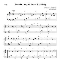 $1.50 Harp Music: Love Divine, All Loves Excelling