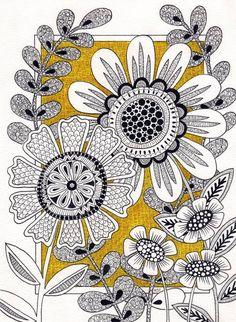 Doodle Art Drawing, Zentangle Drawings, Doodles Zentangles, Art Drawings, Doodle Designs, Doodle Patterns, Zentangle Patterns, Zantangle Art, Zen Art