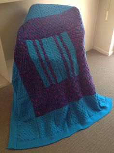 Handmade Knitted Squares Blanket by WeAreFamilyHeath on Etsy