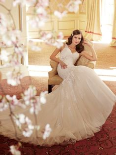Wedding Dresses Ball Gown, Stunning Tulle & Satin V-neck Natural Waistline Mermaid Wedding Dress DressilyMe Sophia Tolli Wedding Gowns, Wedding Dresses 2014, Formal Dresses For Weddings, Bridal Gowns, Wedding Attire, V Neck Wedding Dress, Gorgeous Wedding Dress, Beautiful Bride, Beautiful Dresses