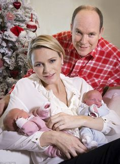 The Palace of Monaco have released a set of images of Prince Albert II of Monaco and his wife Charlene posing with their twin babies Jacques and Gabriella at the Princess Grace Hospital in Monaco 23 Dec 2014