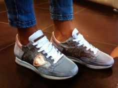 Cool sneaker ! Philippe Model in grey/silver! Spring 2014 MrsJones fashion & art In store now :-)