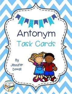 FREEBIE. These antonym task cards are used in work stations. There are 20 cards that practice using antonyms in 4 different forms.