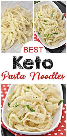 Keto Pasta Noodles {EASY} keto recipe for the BEST low carb pasta noodles. Low carb pasta that are simple & delicious. Noodles for pasta for ketogenic diet. Make keto fettuccine Alfredo, butter noodles, low carb spaghetti & meatballs & more. Lunch Recipes, Low Carb Recipes, Diet Recipes, Healthy Recipes, Sugar Free Recipes Dinner, Sauce Recipes, Keto Recipes Dinner Easy, Keto Lunch Ideas, Pasta Recipes