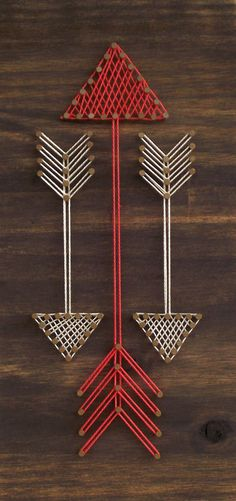 The best DIY projects & DIY ideas and tutorials: sewing, paper craft, DIY. Diy Crafts Ideas Mini Arrows String Art Sign by on Etsy -Read Wood Crafts, Fun Crafts, Arts And Crafts, Cuadros Diy, Nail String Art, String Art Patterns, Wall Ornaments, Ideias Diy, Crafts To Make And Sell