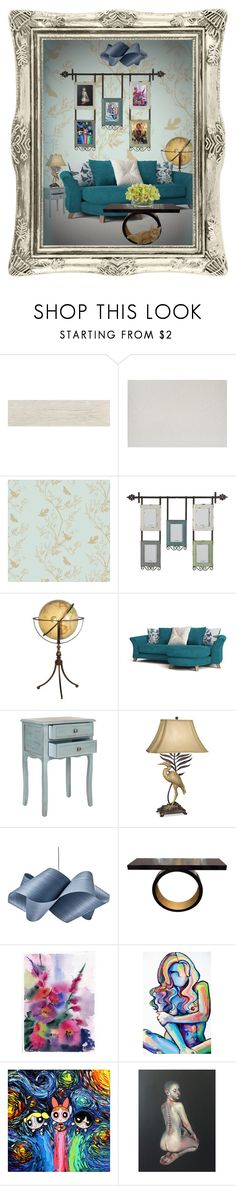 """""""Untitled #7776"""" by sherlinredrossa ❤ liked on Polyvore featuring interior, interiors, interior design, home, home decor, interior decorating, Eldon, Timorous Beasties, Pier 1 Imports and Safavieh"""