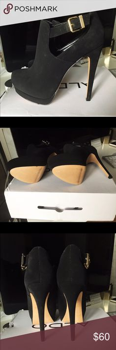 Aldo Elesta heel booties - new in box Brand new, never worn. Suede high heel ankle booties. Comes with the original box. They are brand new and in perfect condition. Aldo size US 7/37. Aldo Shoes Ankle Boots & Booties