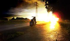 Vespa Primavera @ sunset