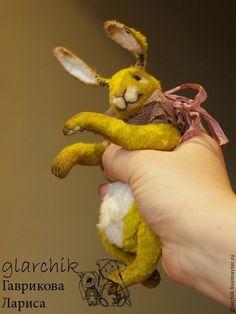 Крольчиха - салатовый,кролик,друзья тедди,авторская игрушка,коллекционная игрушка