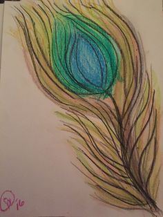 attempt at peacock feather Peacock, Watercolor Tattoo, Feather, My Arts, Tattoos, Quill, Tatuajes, Tattoo, Peacocks