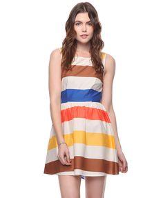 Colorblocked Swing Dress | HERITAGE 1981 - 2005758088