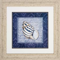 Shell 2 Piece Framed Graphic Art Set