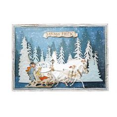 6002/1375 Anton Pieck 6002/1379 sleigh ride Anton Pieck, Winter Christmas, Winter Wonderland, Moose Art, Tapestry, Joy, Cards, September, Animals