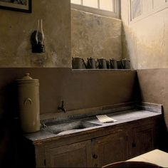 Interior Color. Kitchen.raw .Scullery at Erddig Hall, England. Photography by bev on Flickr