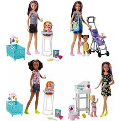 Buy Barbie Sisters Babysitter Playset- Assorted online or in store at Mr Toys. Browse our Barbie range at great prices. Barbie Bebe, Barbie Skipper, Mattel Barbie, Barbie And Ken, Baby Barbie, Doll Clothes Barbie, Doll Toys, Barbie Stuff, Babysitting Jobs