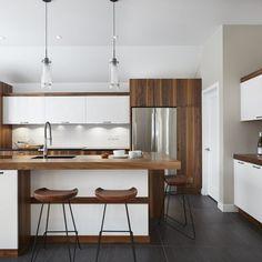 040 Kitchen Dining, Kitchen Decor, Small Modern Kitchens, Contemporary Kitchen Design, Cuisines Design, Sweet Home, House Design, Interior Design, House Styles