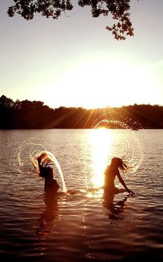 hair flip in the water!