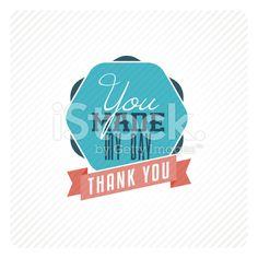 ビンテージカードありがとうございました。 ロイヤリティフリーストックのベクターアート