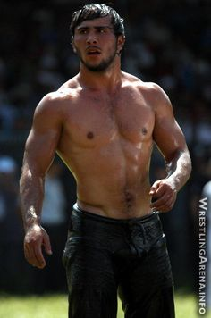 Turkish Oil Wrestler- total randomness I stumbled across here on Pinterest. I'm not complaining.