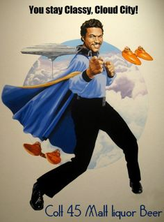 Star Wars Billy Dee Williams Colt 45 Beer