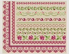 Cross Stitch patterns border - Counted cross stitch- Border Designs - Embroidery Borders.  This is a digital Cross stitch pattern that you can instantly download from Etsy after purchase. Patterns include a full color chart with color symbols, a thread legend. The whole chart on one page, and also broken up into 4 pages (which makes the symbols easier to read).  Digital PDF format , not a finished product.  Cross Stitch patterns are for personal use only. The patterns may not be re-sold or…