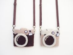 Crochet Patterns Vintage Crocheted Vintage Camera Instax Mini Bag by meemanan on Etsy Love Crochet, Bead Crochet, Vintage Crochet, Instax Mini Case, Crochet Camera, Polka Dot Fabric, Crochet Purses, Vintage Patterns, Mini Bag