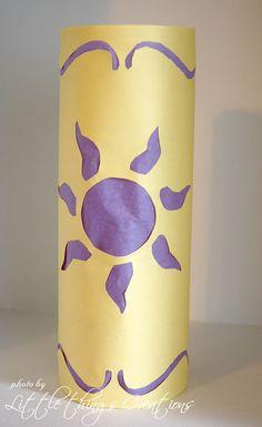 Día Creativo- Manualidad- Lámparas de Papel al estilo Enredados (Tangled) ~ Little things Creations
