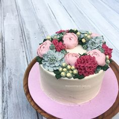 Buttercream Flower Cake http://thesweetspot.com.my/?p=8368