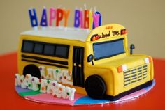 Phenomenal 14 Best School Bus Cake Images School Bus Cake Bus Cake School Personalised Birthday Cards Cominlily Jamesorg