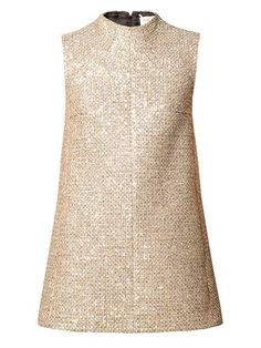 Sequined tweed mini dress | Saint Laurent | MATCHESFASHION.COM