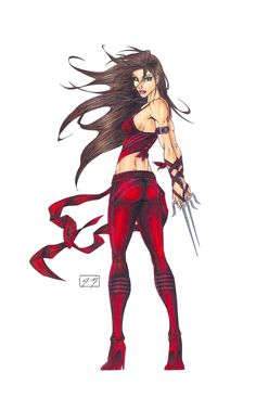 Elektra: Movie Version COLORED by ~oathkeeper6