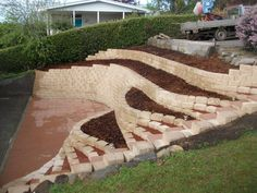 retaining wall in front of concrete ditch - Google Search                                                                                                                                                                                 Mais