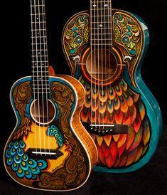 hand painted guitars | Hand Painted Guitars, Ukuleles, Lichty Guitars-8 | Flickr - Photo ...