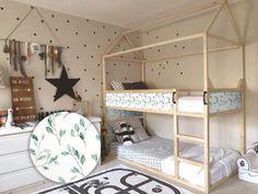 Kura Cama Ikea, Ikea Kura Hack, Ikea Bunk Bed Hack, Ikea Hacks, Ikea Kids Bed, Bed Ikea, Bunk Beds Boys, Kid Beds, Bunk Bed Tent