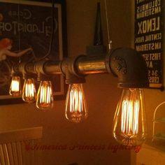 Alibaba グループ | AliExpress.comの ペンダント ライト からの 工業用照明レトロ- スタイルバーカフェバーのシャンデリアシャンデリア創造的な人格の配管 光ボディ材: 鉄寸法: 88センチメートル長さ色:青銅/黒光源: 白熱、 ledプロセス: 他のソースの数を: 5照射領域: 中の Industrial lighting retro style bar cafe bar chandelier chandelier creative personality plumbing, material iron, E27, AV110 240V