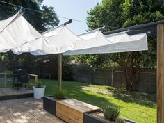 Ultimate Deck And Patio Area Retreat For Easy Living – Outdoor Patio Decor Deck Shade, Backyard Shade, Backyard Canopy, Outdoor Shade, Backyard Patio Designs, Canopy Outdoor, Pergola Shade, Diy Patio, Outdoor Rooms