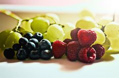Winter Fruits - Winter Fruits. Grapes, Raspberries & Blueberries.