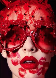 Beauty for Vogue Ukraine Photo by Jamie Nelson Styling by Michael Kozak Mercura NYC red baroque sunglasses
