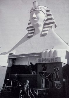 The Sphinx was a feature in Dreamland for many years. I can remember as a teenager that it was a walk through in the dark attraction with narrow winding corridors, uneven moving floors and scary things that jumped out on you, groovy 😋 Dreamland Amusement Park, Kent Coast, Old Things, Scary Things, The Good Old Days, Seaside, The Darkest, England, Places