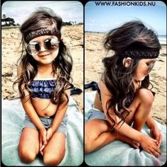 Omg that little girls hair is beautiful! Toddler girl fashion