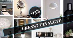 Hver uke velger vi ut 7 favoritter som vi gir 15% på! Følg med! Plutselig kommer din favoritt på tilbud . . . #lightupno #vitacopenhagen #herstal #globenlightning #nordlux  #nordic_homes #design