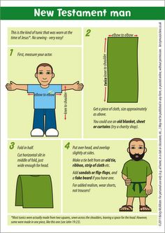 For acting out Bible stories. No-sew costume. Historically accurate. Miscellany of Randomness: Free downloads