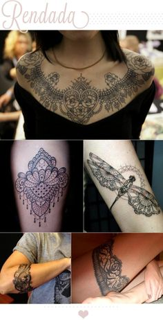 lace tattoos                                                                                                                                                      More