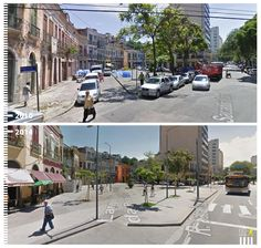 Image 19 of 31 from gallery of Before & After: 30 Photos that Prove the Power of Designing with Pedestrians in Mind. R Sacadura Cabral, Rio de Janeiro, Brazil. Image Courtesy of Urb-I Public Space Design, Public Spaces, Archdaily Mexico, Street Furniture, New City, Urban Planning, Walkway, Urban Design, Architecture