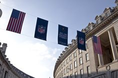 #RegentStreet #NFL #Flags
