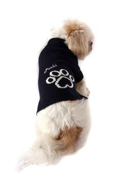 Puchi Navy Paw Jumper – The Dog Demands Dog Jumpers, Snug, Warm, Dogs, Doggies, Dog
